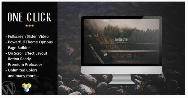 One Click - Wordpress тема Лендинг Пейдж с параллаксом