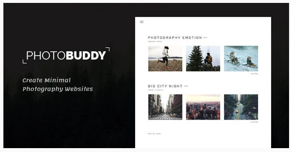 PhotoBuddy   WordPress Тема для фотографий