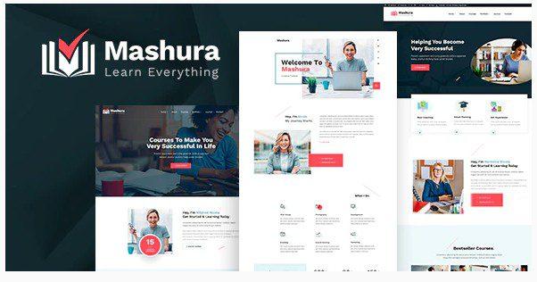 СКАЧАТЬ Mashura - Wordpress Тема LMS обучения и онлайн-курсов