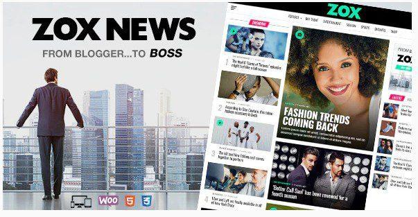 Zox News - профессиональная тема для новостей и журналов WordPress