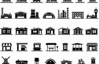 Вектор — черные иконки недвижимости