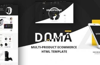 Dama — Магазин, адаптивный Шаблон HTML