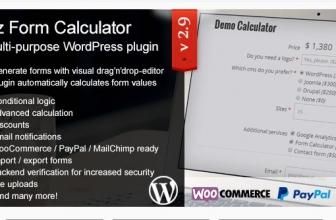 ez Form Калькулятор- WordPress плагин