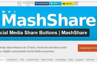 Кнопки Поделиться в Соц Медиа   MashShare