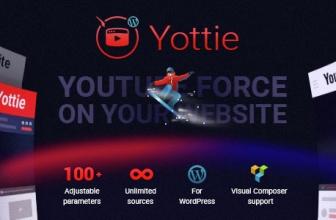 Плагин WordPress Канала YouTube — WordPress YouTube Gallery (Yottie)