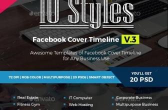 GraphicRiver — 10 Многоцелевых Обложек-баннеров для Facebook