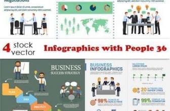 Вектор — Инфографика с людьми 36