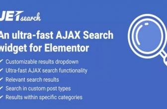 JetSearch — Сверхбыстрый виджет поиска AJAX для Elementor