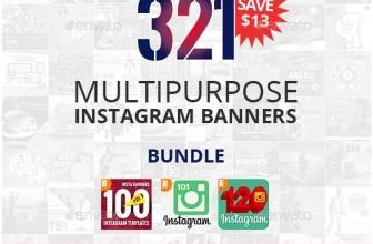 GraphicRiver — 321 Instagram Промо-Пакет