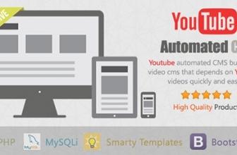 YouTube CMS — автонаполняемый сайт из YouTube