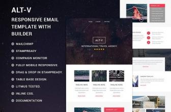 ALT-V Адаптивный email шаблон