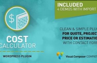 Cost Calculator — Калькулятор стоимости — расширение для Visual Composer