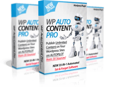 Пак плагинов: WP AutoContent PRO +Auto Traffic & SEO + WP Auto Monetize