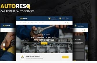 Autoresq — Car Repair Тема WordPress