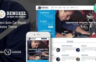 Bengkel — Авто Ремонт Бизнес-Тема