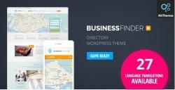 Business Finder: Directory Listing Тема WordPress