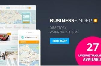 Business Finder — Бизнес поисковик: Каталог объявлений, списков — Тема WordPress