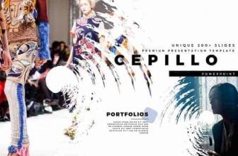 CEPILLO Премиум Шаблон PowerPoint 1695556