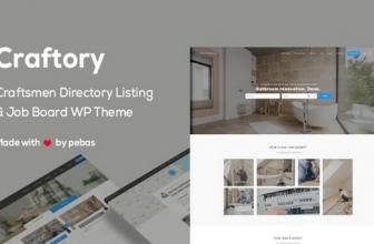 Craftory — Каталог объявлений о работе, биржа фриланс WordPress тема