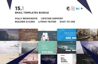 Пакет 15 Email шаблонов + Конструктор