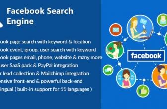 Поисковик в Facebook — cкрипт поиска страниц, и информации