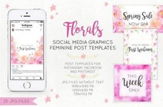 Цветочная графика социальных медиа