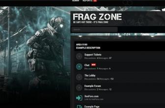 Тема — стиль Frag Zone для Xenforo