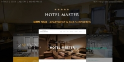 Hotel Master — Тема wordpress брони номеров