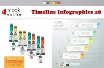 Векторы — Временная шкала Инфографика 28