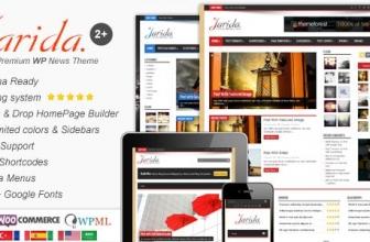 Jarida — Адаптивный WordPress шаблон для Новостей, Журнала, Блога