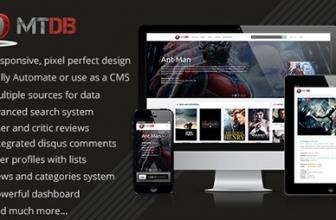 Скрипт php MTDb — Обширная база данных фильмов и сериалов ТВ