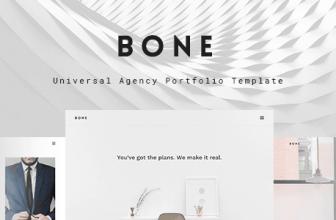 Шаблон на HTML Bone — Агентства, портфолио