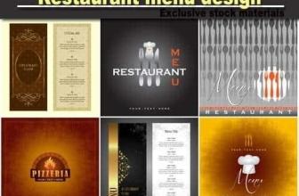 Меню Ресторана — дизайн шаблона