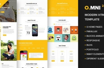 Omni — Современный HTML Шаблон Приложения