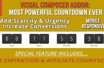 Аддон для Visual Composer: Обратный отсчет