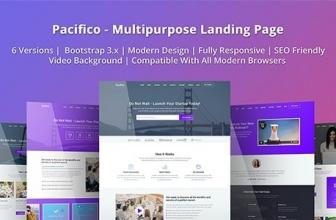 Pacifico — Универсальный Лендинг HTML шаблон
