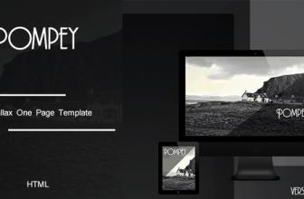 Лендинг Помпея HTML сайт на одну страницу