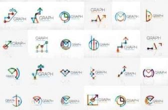 Вектор — Финансы абстрактный логотип