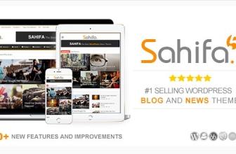 Sahifa v5.6.11 — Отзывчивая WordPress Тема, Новостей,  Журнала, Блога