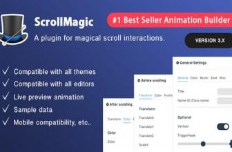 Scroll Magic WordPress — Плагин для анимации прокрутки.
