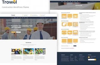 Trowel — Адаптивный WordPress шаблон на тему строительных компаний