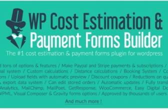 WP Cost Estimation & Payment Forms Builder — WP Оценочный & Платежный Конструктор форм