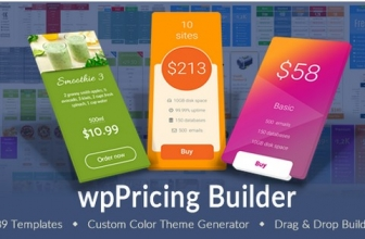WP Pricing Table Builder —  адаптивные таблицы цен Плагин для WordPress