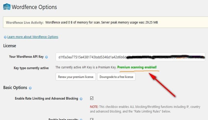 Wordfence Security Premium - Плагин Безопасности для wordpress сайта с Обновлением до Премиум