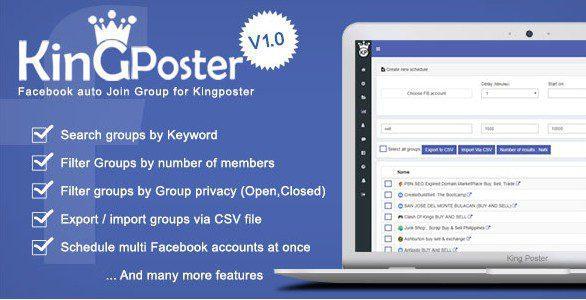 King poster | Facebook АвтоПостер + Модуль Авторегистрации в группы