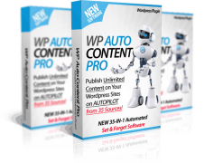 Пак плагинов: WP AutoContent PRO +Auto Traffic & SEO + WP Auto Monetize