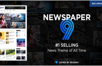 Newspaper v9.0.1 — Адаптивная тема Новостей/Журнала WordPress