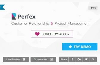 Perfex CRM — Мощная crm и erp система + 4 платёжных шлюза для СНГ